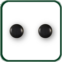 Small and refined, these black Jade stud earrings are perfect for any occasion.