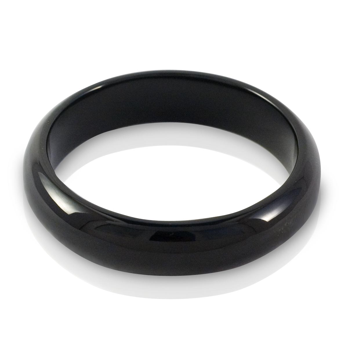 Black Jade wide bangle 68mm