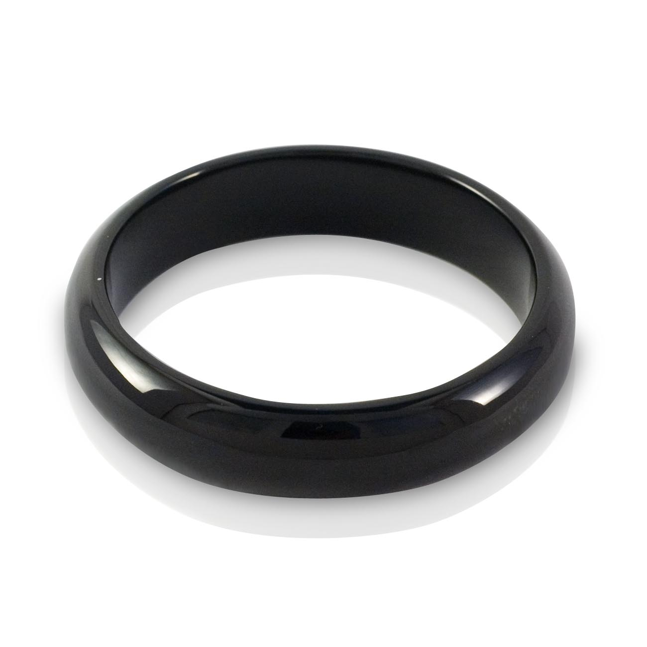 Black Jade wide bangle 60mm