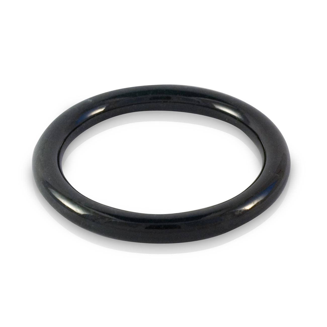 Black Jade round bangle 60mm
