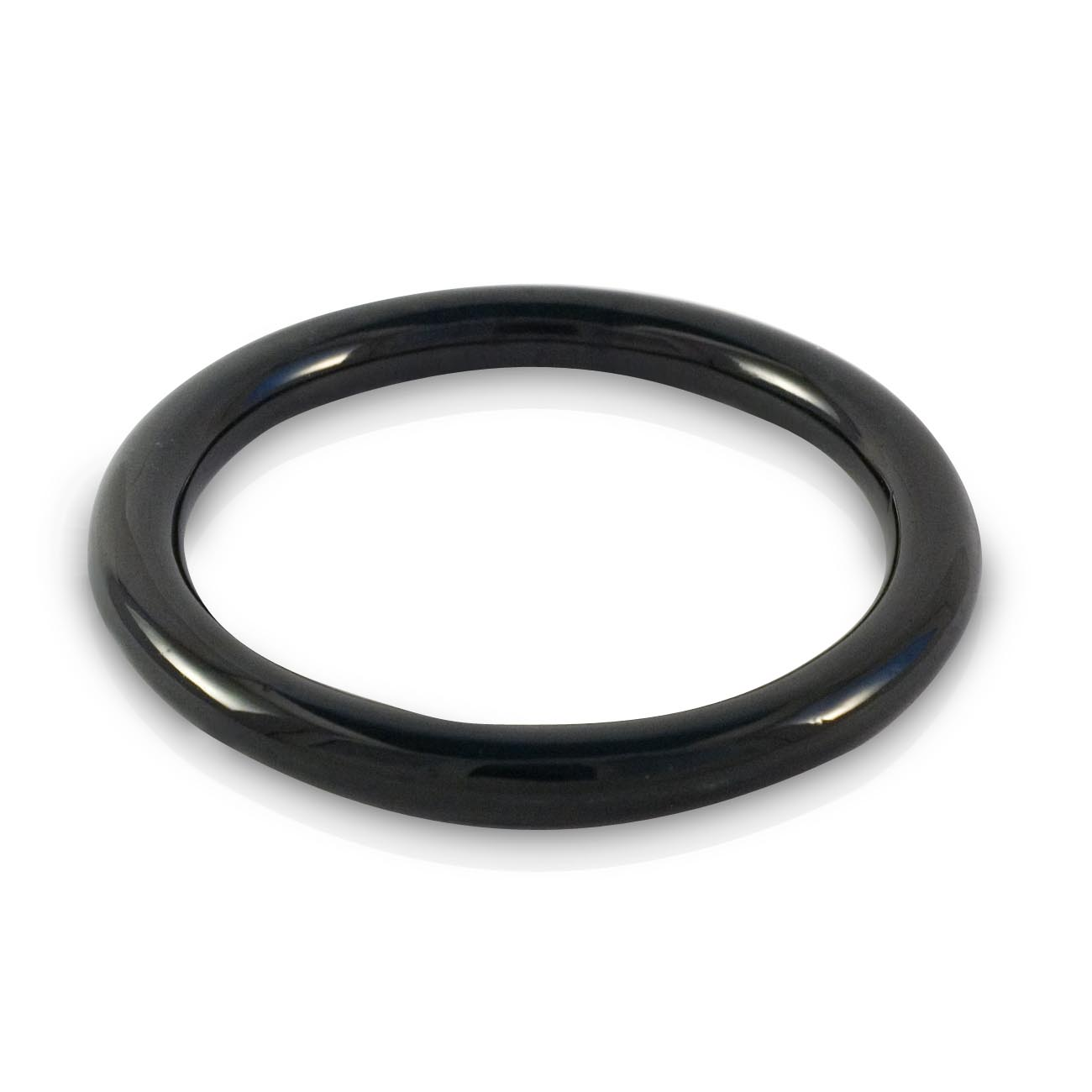Black Jade round bangle 65mm