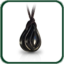 Natural, organic lines flow through this carved Australian black Jade pendant.