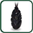 Available in black Jade, this Art of Jade pendant bears a strong nature theme based on the leaf form.