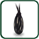 Organic coastal lines sway across this amulet style pendant carved from black Cowell Jade.