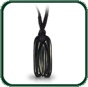 Simple lines and forms create this subtle Art of Jade pendant in black Cowell Jade.