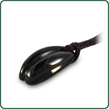 Unique and subtle, free flowing dark Cowell Jade pendant.