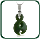 Inspired by the traditional New Zealand Jade twist and hook design, this pendant is available in green Jade on a delicate silver necklace.