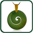 Inspired by the traditional Koru design of New Zealand, this pendant is simply and carefully carved from a choice of green Jade.