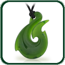 Attractive fish hook pendant in a choice of green Nephrite Jade. Ideal as a piece of men's jewellery.