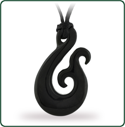 Inspired by traditional manaia design of New Zealand, this craved Jade pendant is available in black Nephrite Jade.