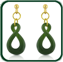 Carved from green Jade, the simple twist dangle earrings complement the twist pendant (item GP520525) to create a matching jewellery set.