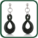 Carved from black Jade, the simple twist dangle earrings complement the twist pendant (item SP510525) to create a matching jewellery set.
