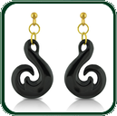 Inspired by traditional South Pacific amulets, these pendant earrings are available in black Jade and a choice of gold settings.