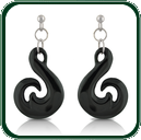 Inspired by traditional South Pacific amulets, these pendant earrings are available in black Jade and a choice of silver settings.