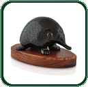 Unique to Australia, the echidna is one of the country's quirkiest wildlife here recreated for you in finely carved black Nephrite stone.