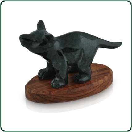 The inquisitive, large Tasmanian devil in black Jade is an appealing take on one of Australia's grumpiest little creatures.