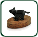 Impish little Tasmanian Devil in black Nephrite Jade is one of the cutest in the collection.