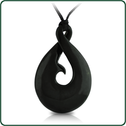 This striking, black Jade South Pacific-style pendant makes an ideal gift for both men and women