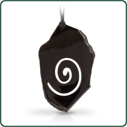 The delicately carved swirl sets a stunning contrast, emerging from the unique rough-hewn jade-stone, with no two being alike in shape, size or colour, and each piece characterised by its natural and individual texture. (NB: small surface irregularities are part of the design and are not defects in the finish)